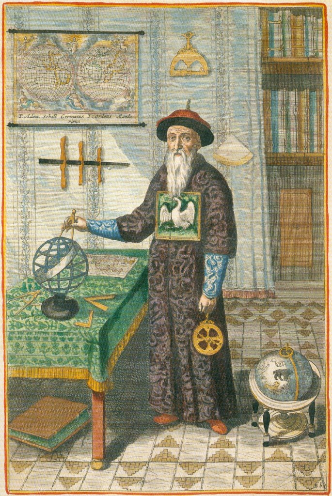 A portrait of German Jesuit Johann Adam Schall von Bell (1592–1666), who was a Jesuit missionary in China (Ming and Qing dynasties) from 1622 to his death in 1666.