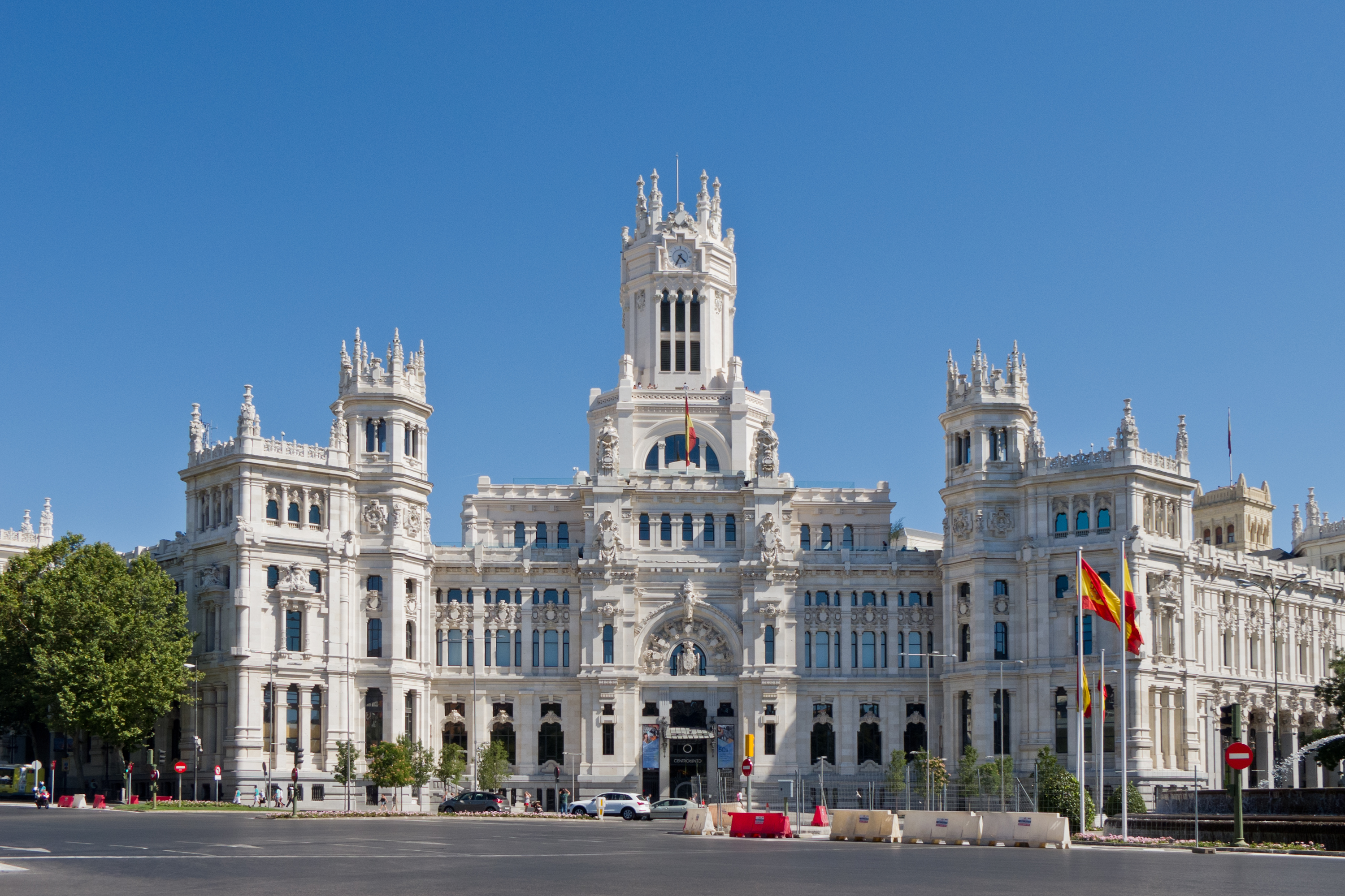 City Hall of Madrid and iconic monument of the city