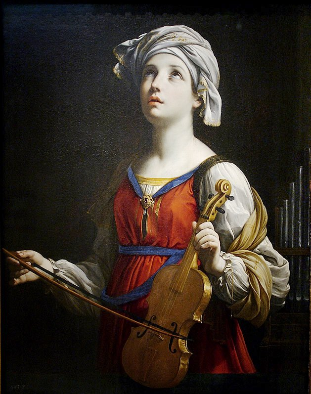 Saint Cecilia by Guido Reni, 1606.