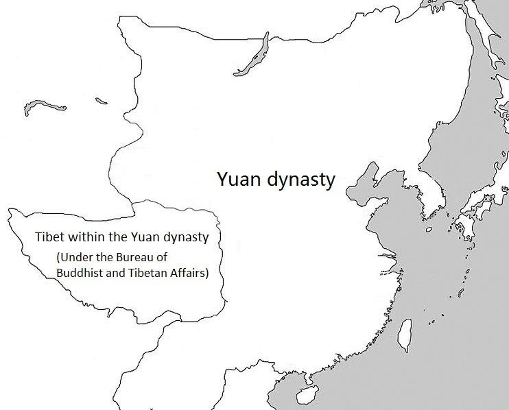 Tibet within the Yuan dynasty under the top-level department known as the Bureau of Buddhist and Tibetan Affairs (Xuanzheng Yuan)